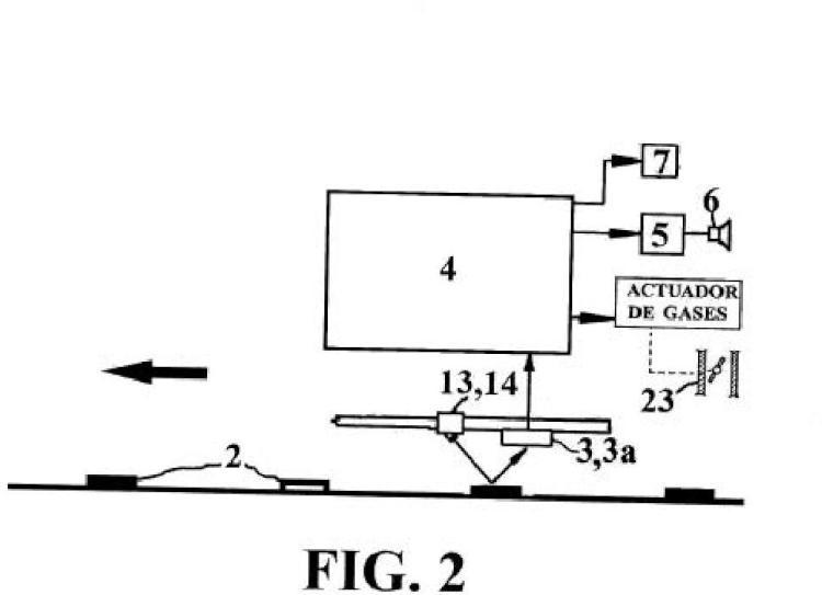 Sistema y procedimiento de conducción automática y de aviso de datos o señales de tráfico para trenes y vehículos rodados.