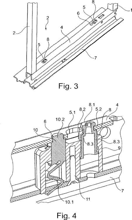 Dispositivo de corredera para correderas de armarios.