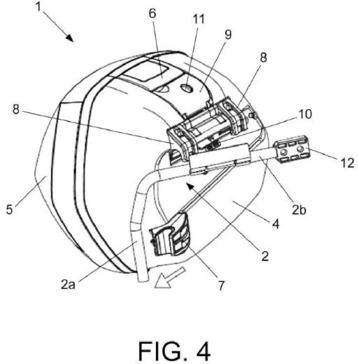 Dispositivo de sujeción de maletas laterales al chasis de motocicletas y vehículos similares.