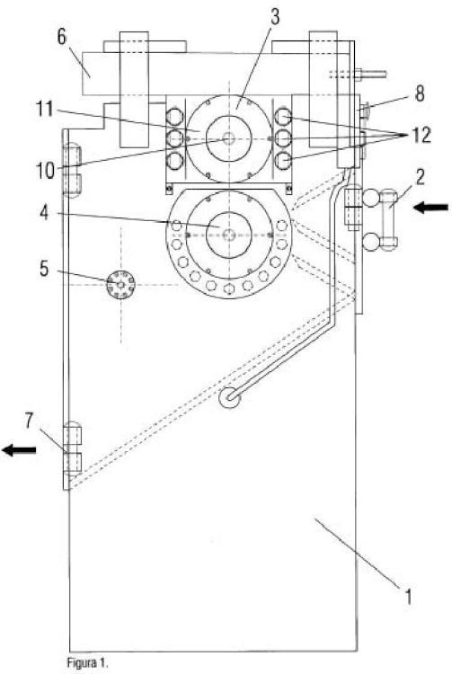 Máquina de corte por sistema de presión para cable aéreo.