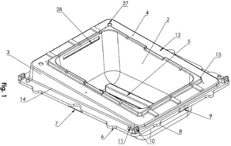 Flotador modular encajable para aplicaciones fotovoltaicas.