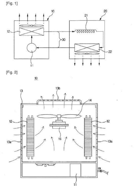Unidad exterior para acondicionador de aire.