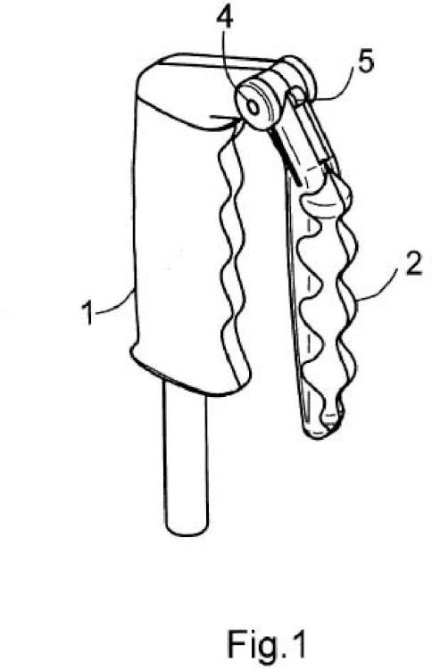Empuñadura para bastón de senderismo perfeccionada.