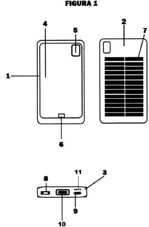 funda adaptable de energía solar para teléfonos móviles, inteligentes y tabletas.