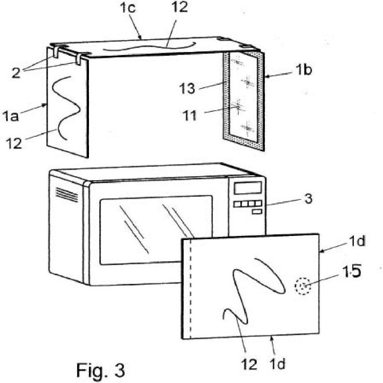 Protector anti radiación para hornos microondas.