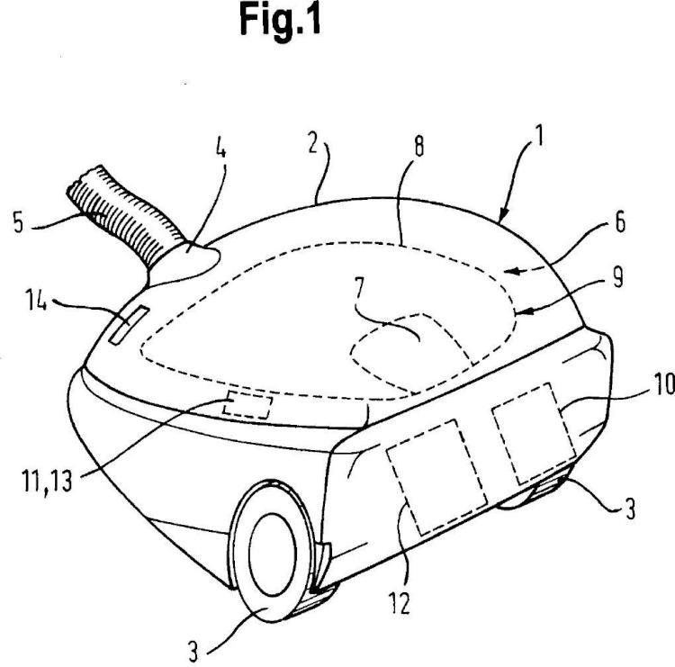 Aspirador de polvo y procedimiento para el funcionamiento de un aspirador de polvo.