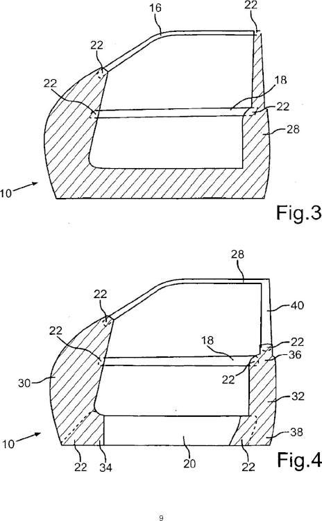 Componente de peso ligero para una carrocería de vehículo.