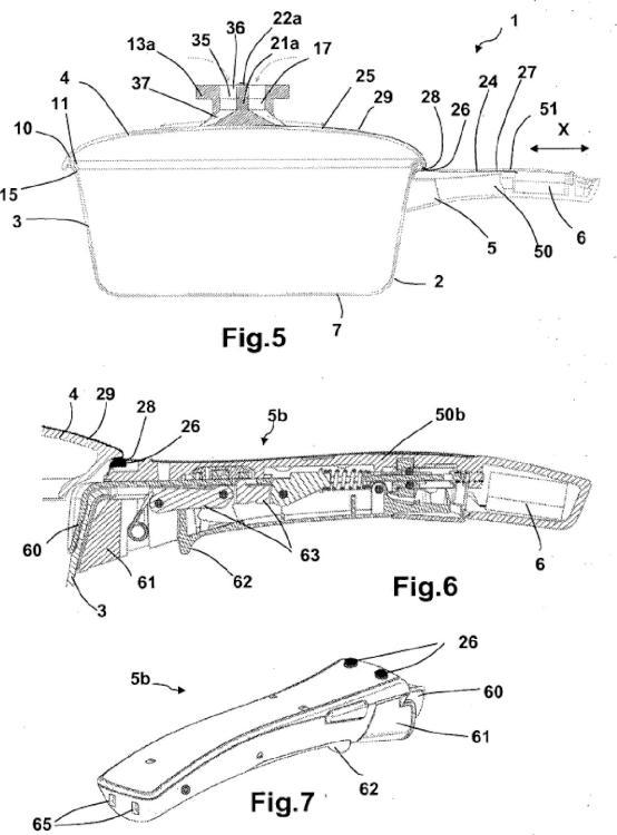 Artículo culinario provisto de una empuñadura que coopera eléctricamente con un accesorio desmontable.