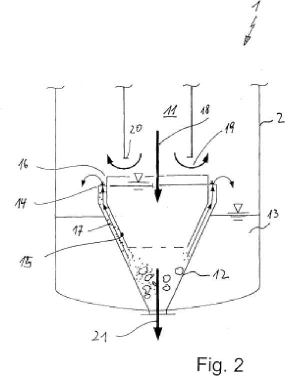 Reactor de gasificación para producir gas bruto.