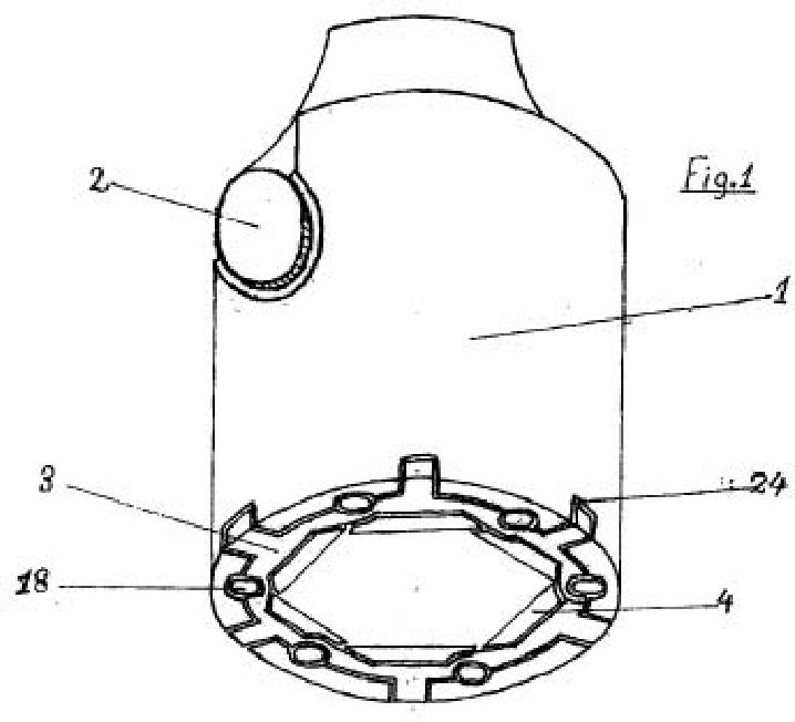 Llave de vaso con seis caras ajustable.