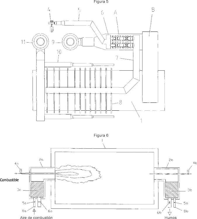 Procedimiento de calentamiento en un horno utilizando un combustible de baja potencia calorífica, y horno que utiliza este procedimiento.
