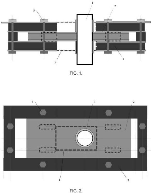 Dispositivo de entrada y salida deslizante de tubos para receptor solar de concentración.