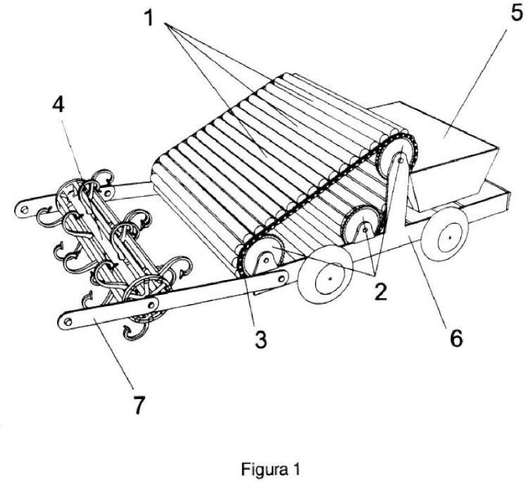 Dispositivo móvil para la recogida de elementos ferromágneticos.