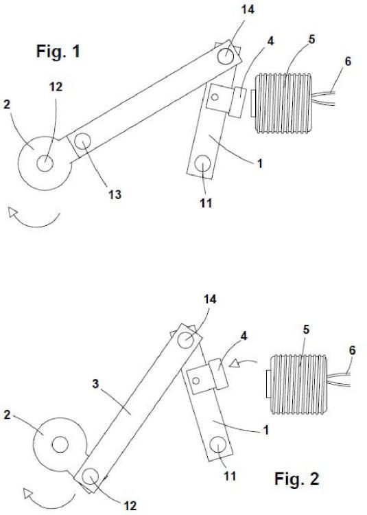 Dispositivo generador de movimiento por accionamiento magnético alternativo.