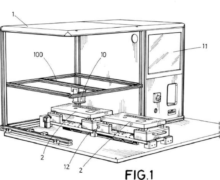 Dispositivo y procedimiento de inspección de elementos en cajas de fusibles.