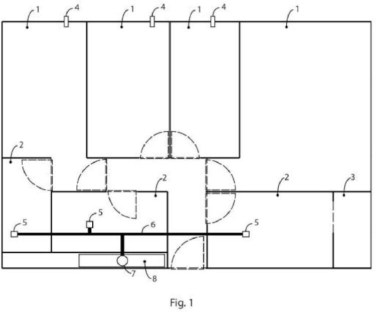 Sistema de ventilación de una vivienda.