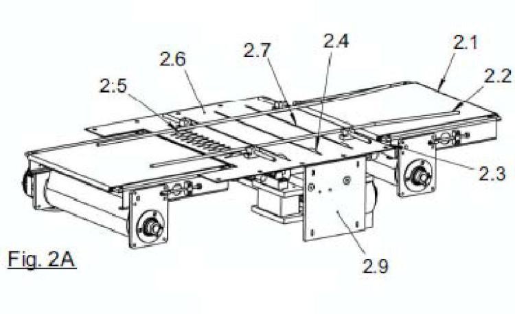 Sistema de corte para una plancha de producto alimenticio.