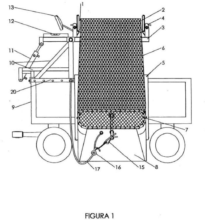 Bolsa cargadora, autonivelante, acoplable a todo tipo de vehículos agrícolas.