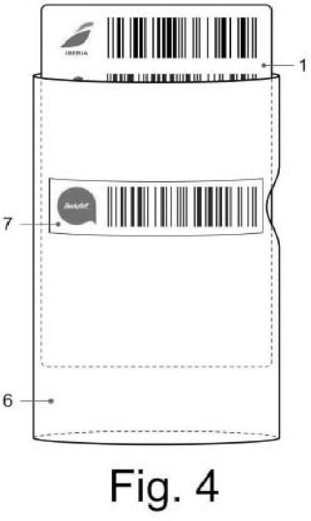 Funda con ventana para tarjeta de fidelización compacta.