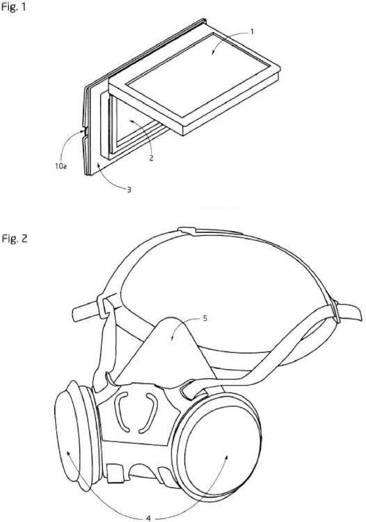 Protección facial para soldadura con soporte regulable para todo tipo de marco ocular.