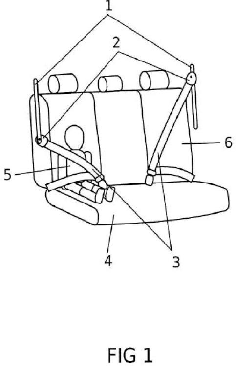 Corredera para el soporte superior del cinturón de seguridad de un vehículo para asegurar a niños.
