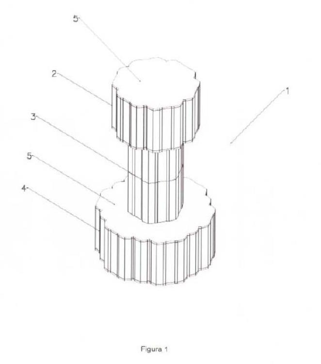 Procedimiento de fabricación e implantación de una plataforma flotante modular y plataforma flotante modular para llevar a cabo el procedimiento.