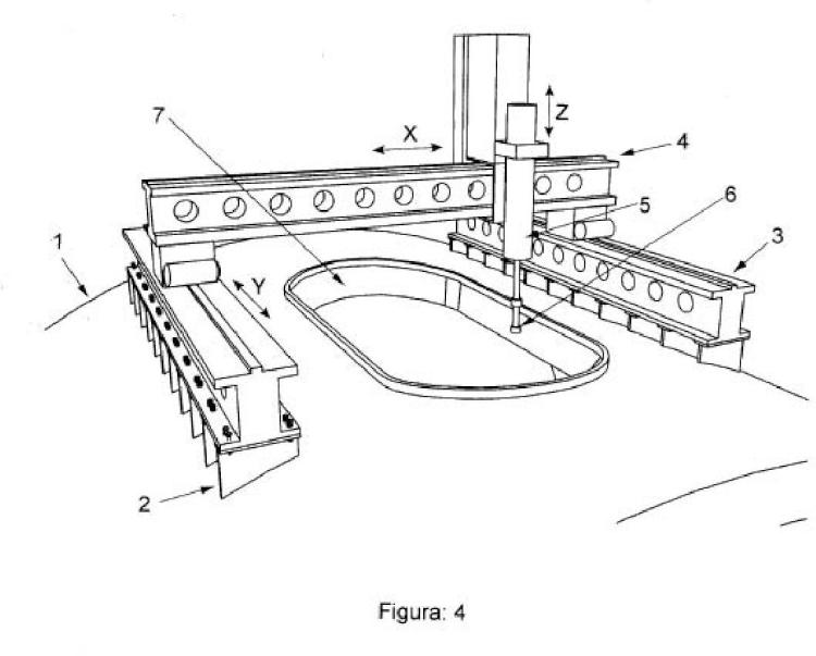 Procedimiento de mecanizado de una escotilla de embarque de grandes equipos de un submarino.