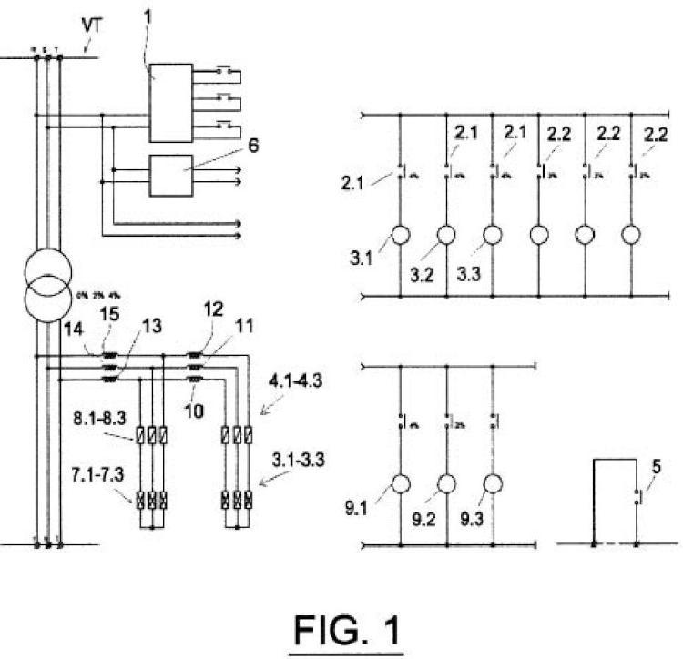 Dispositivo de ahorro de energía eléctrica mediante autotransformador de bobinas conectadas en zig-zag con control de ajuste de tensión y programable.