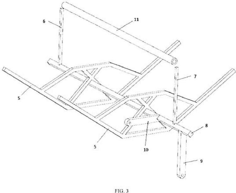 Estructura soporte para colector solar cilindro parabólico descompuesto.