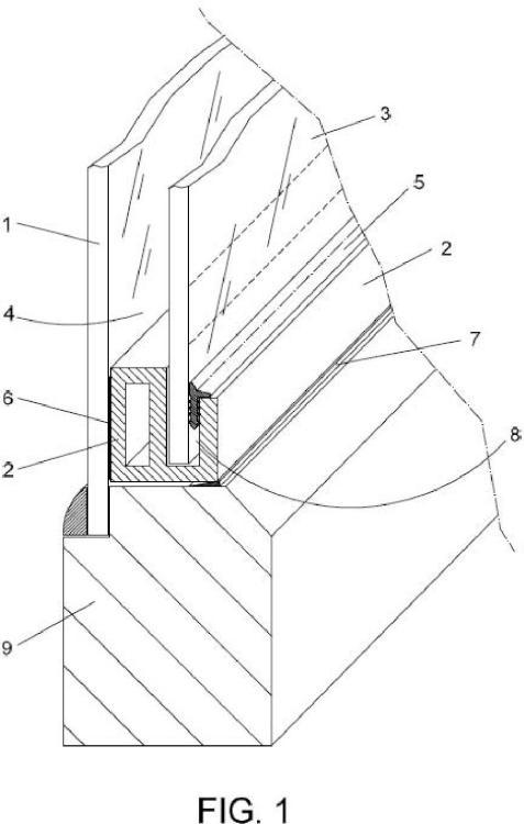 Dispositivo para doble acristalamiento de puertas y ventanas.