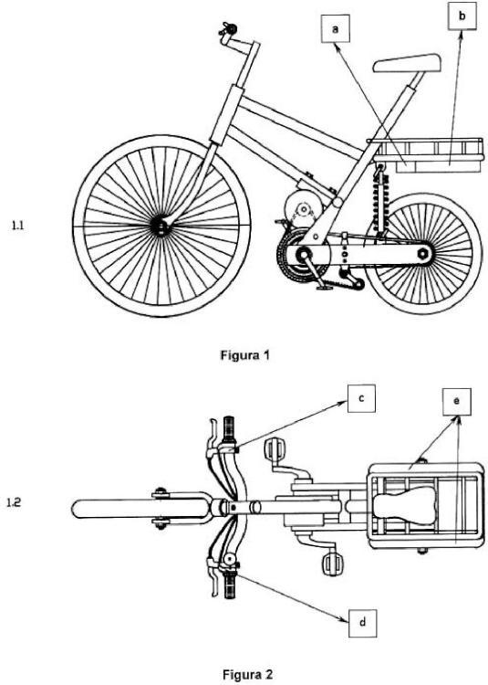 Bicicleta de tres ruedas con generador incorporado.