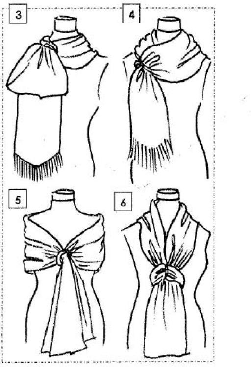 Pañuelo mejorado para cuello y hombros.