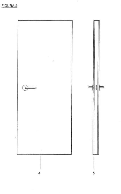 Puerta panelable.