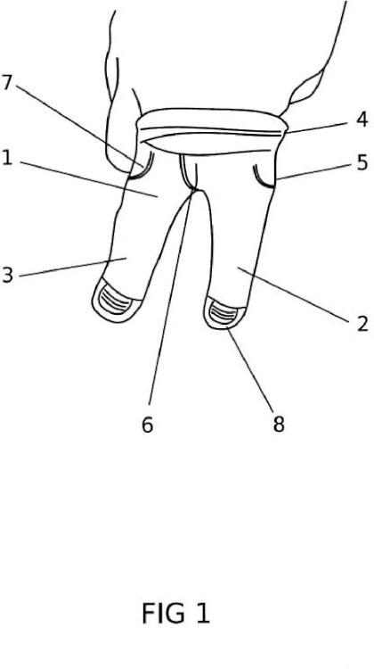 Dediles semejando pantalones y zapatos para jugar a bailes, juegos infantiles, deportes miniaturizados y marionetas.