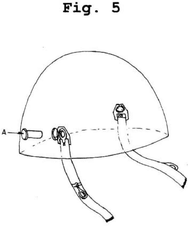 Barbuquejo para cascos de motorista y de ciclista con antirrobo incorporado.