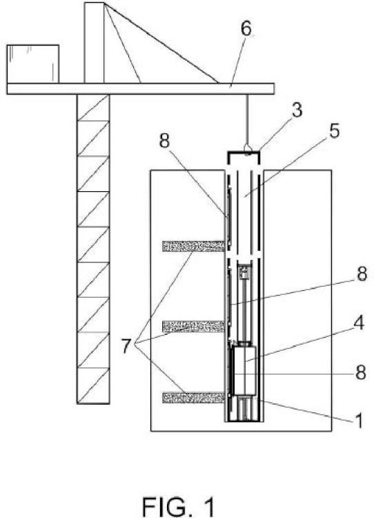 Sistema de montaje modular de ascensores.