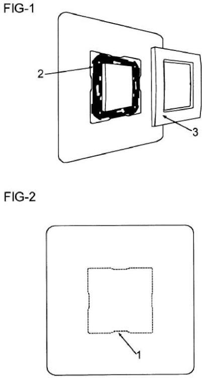 Pletina protectora antirreflejante para interruptores de pared.