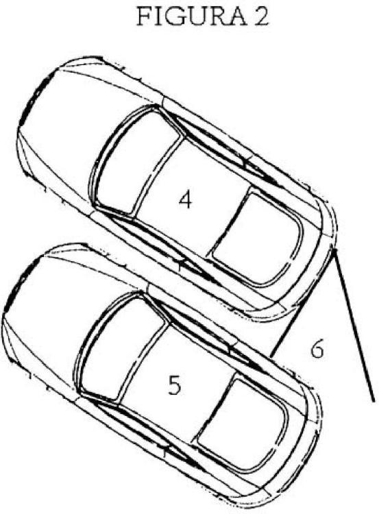 Disposición de cámaras de ayuda para la salida de vehículos del aparcamiento.