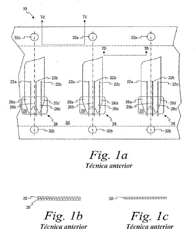 Procedimiento de formación de un sensor de ensayo de múltiples capas.