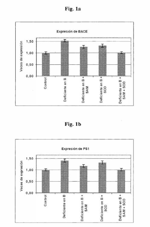 Uso de S-adenosilmetionina (SAM) y superóxido dismutasa (SOD) para la preparación de medicamentos para el tratamiento de la enfermedad de Alzheimer.