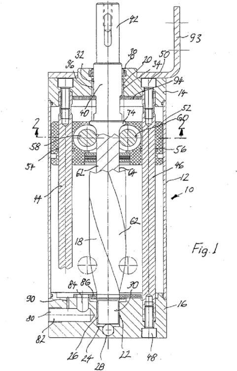 Accionamiento giratorio para batiente de puerta pivotante, especialmente para puertas de automóviles.
