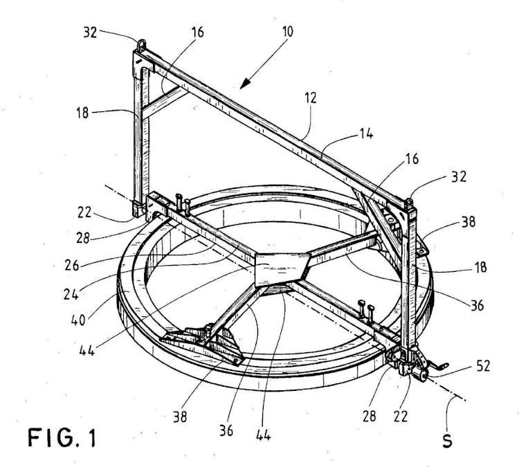 Dispositivo de manipulación para cojinete de palas de rotor.
