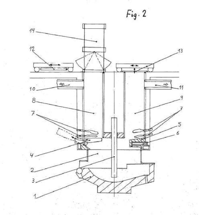 Horno de arco eléctrico de cuba baja.