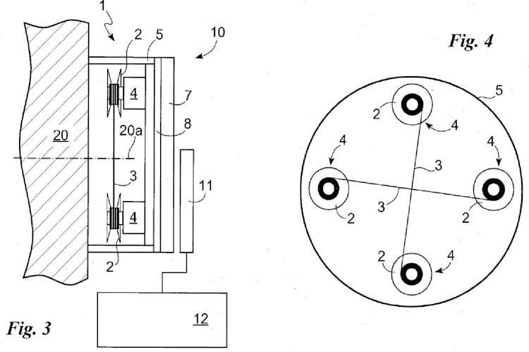 Dispositivo de equilibrado de cuerpos rotativos.