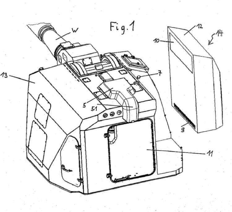 Vehículo de combate, en particular obús blindado.