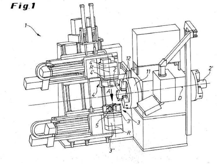 Máquina herramienta para mecanizar una pieza de trabajo tubular.