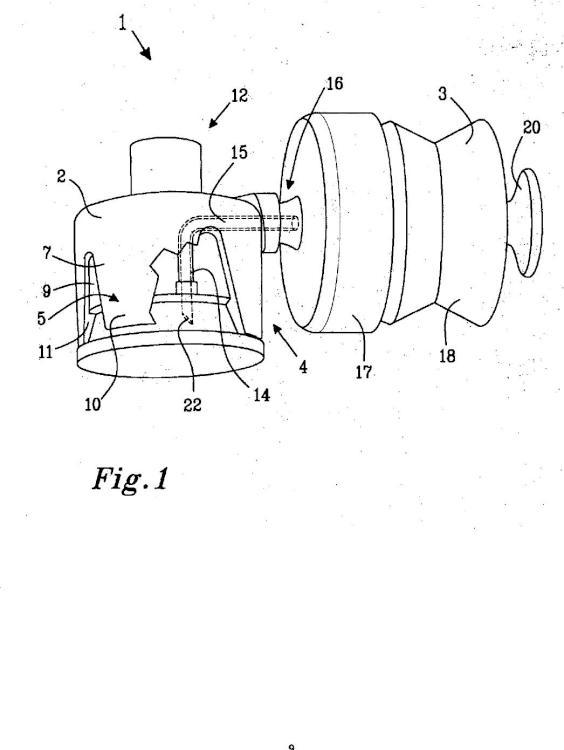 Dispositivo para suministrar fluido a un receptáculo.