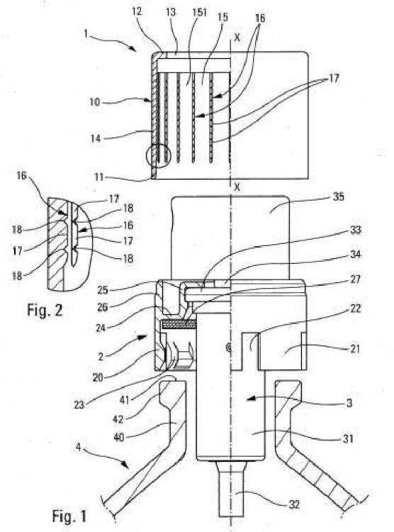 Órgano de recubrimiento, procedimiento de fabricación de dicho órgano y distribuidor de producto fluido que usa dicho órgano.