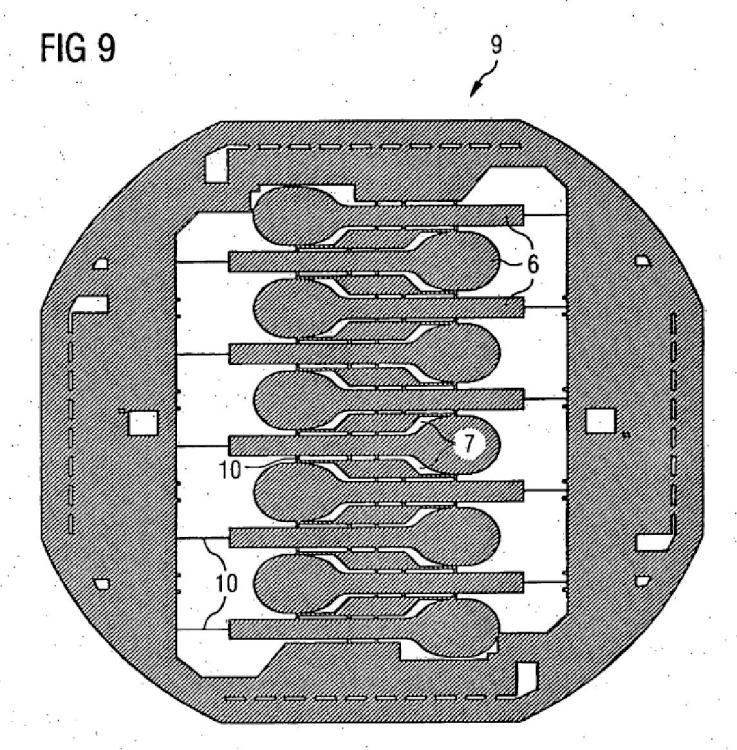 Procedimiento para la fabricación de estructuras de implante para el contacto o la electroestimulación de células tisulares vivas o nervios.