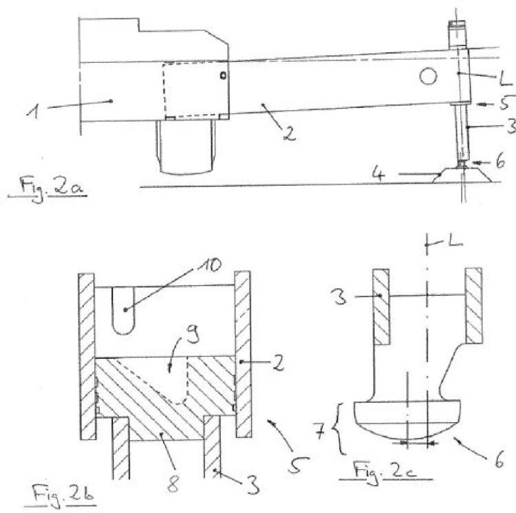 Dispositivo de apoyo para reducir la fuerza transversal.